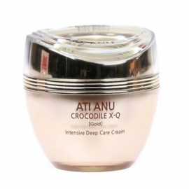 [ANTIANU] Crocodile X-Q Gold Intensive Deep Care Cream 50g_Whitening, Energy, Refitting, Moisture, Soothing _ Made in KOREA